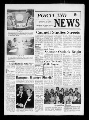 Primary view of object titled 'Portland News (Portland, Tex.), Vol. 10, No. 6, Ed. 1 Thursday, February 6, 1975'.