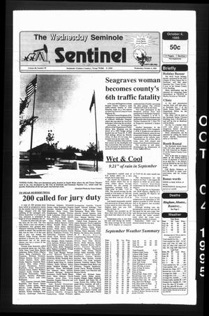 Primary view of object titled 'The Seminole Sentinel (Seminole, Tex.), Vol. 88, No. 99, Ed. 1 Wednesday, October 4, 1995'.