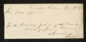 Primary view of object titled 'Travis County Election Records: Election Returns 1873 Precinct 19'.