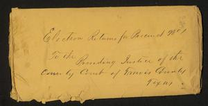 Primary view of object titled 'Travis County Election Records: Election Returns 1873 Precinct 1'.