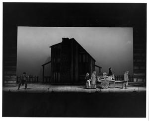 Primary view of object titled '[Family Leaving in Fiddler on the Roof, 1972]'.