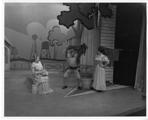 Primary view of object titled '[Three Actors in Oklahoma!]'.