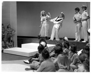 Primary view of object titled '[Luther and Nellie Perform While the G.I.'s and Nurses Look on in South Pacific Musical #2]'.
