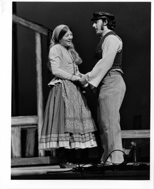 Primary view of object titled '[Two Actors Sing Duet in Fiddler on the Roof, 1972]'.