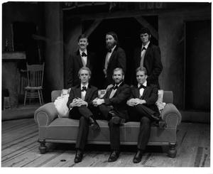 Primary view of object titled '[The Suitors Pose in Seven Brides for Seven Brothers #2]'.