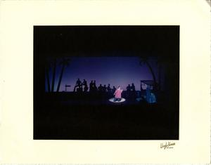 Primary view of object titled '[Bloody Mary Sings to the Sailors at the Pier in South Pacific Musical]'.