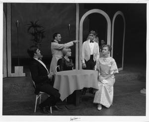 Primary view of object titled '[Five Actors in The Unsinkable Molly Brown]'.