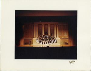 Primary view of object titled '[Choir on School Steps in Like Stars Shining Brightly]'.