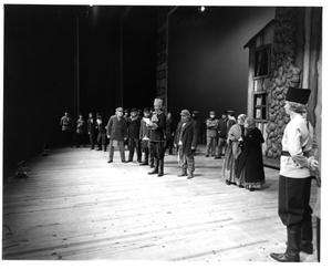 Primary view of object titled '[Policeman Reading Notice in Fiddler on the Roof, 1972]'.