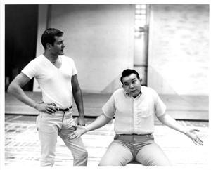 Primary view of object titled '[Gary Hood and Keith King in The Music Man, 1963]'.