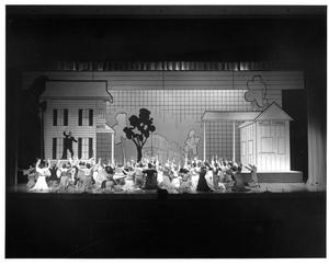 Primary view of object titled '[Jeff Berryman and Crowd in The Music Man, 1979]'.