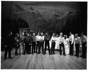 Primary view of object titled '[Brothers and Suitors Have a Standoff in Seven Brides for Seven Brothers #2]'.