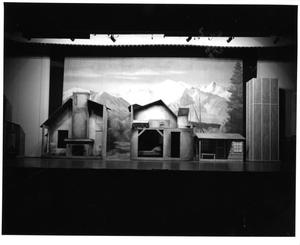 Primary view of object titled '[House and Barn Set in Seven Brides for Seven Brothers #2]'.