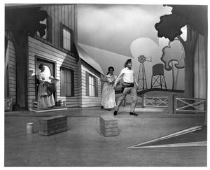 Primary view of object titled '[Three Actors in Oklahoma! #3]'.