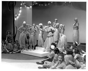 Primary view of object titled '[Sailors in Costume in South Pacific Musical]'.