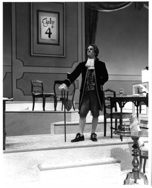 Primary view of object titled '[Nelson Wilson in 1776 Musical]'.