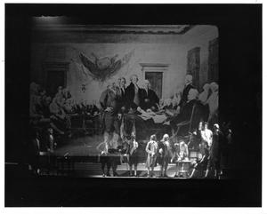 Primary view of object titled '[Second Continental Congress in 1776 Musical]'.