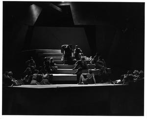 Primary view of object titled '[Ensemble Photograph from Man of La Mancha, 1974 #2]'.