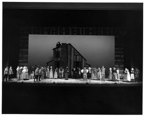 Primary view of object titled '[Group Scene in Fiddler on the Roof, 1972 #2]'.