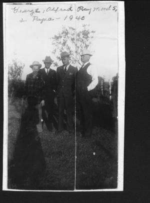 Primary view of object titled '[George, Alfred, Raymond, and Frank Jodarski]'.