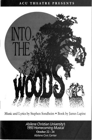 Primary view of [Program: Into the Woods, 1993]