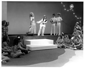 Primary view of object titled '[Luther and Nellie Perform While the G.I.'s and Nurses Look on in South Pacific Musical #3]'.