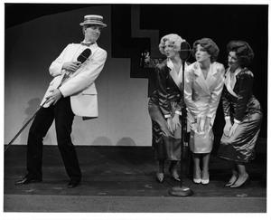 Primary view of object titled '[Radio Show Host and Dancers in Annie, 1986]'.