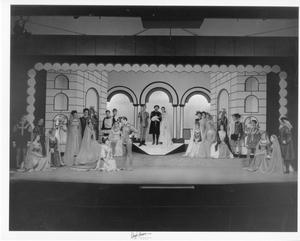 Primary view of object titled '[Group Photograph from Kiss Me, Kate #4]'.