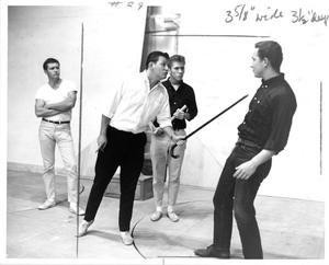Primary view of object titled '[Four Men from The Music Man, 1963]'.