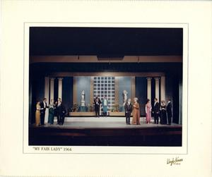 Primary view of object titled '[Group Photograph from My Fair Lady, 1964]'.