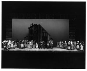 Primary view of object titled '[Group Scene in Fiddler on the Roof, 1972]'.