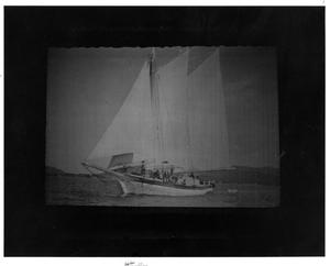 Primary view of object titled '[Backdrop of Sailboat in The King and I]'.