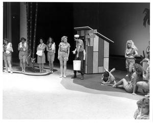 Primary view of [Nellie and Luther Talk in Front of the Bathhouse in South Pacific Musical #4]