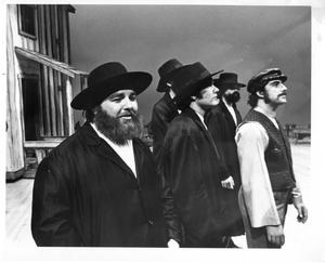 Primary view of object titled '[Five Men in Fiddler on the Roof, 1972]'.