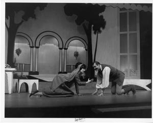 Primary view of object titled '[Two Actors Rehearsing Kiss Me, Kate #2]'.