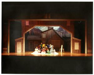 Primary view of object titled '[Pregnancy Announcement Scene in Seven Brides for Seven Brothers]'.