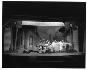 Primary view of object titled '[Ensemble Members Carry Man and Woman in Oklahoma!]'.