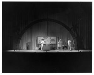Primary view of object titled '[Nellie in Captain's Office in South Pacific Musical]'.