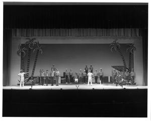 Primary view of object titled '[Sailors at Attention in South Pacific Musical]'.