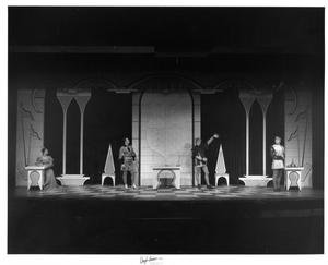 Primary view of object titled '[Four People in Camelot #2]'.