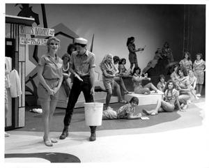 Primary view of [Nellie and Luther Talk in Front of the Bathhouse in South Pacific Musical #2]