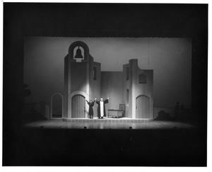Primary view of object titled '[Maria and Mother Abbess in Office in The Sound of Music, 1983]'.