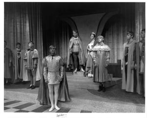 Primary view of object titled '[Nine People in Camelot]'.