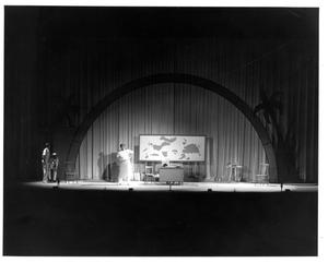 Primary view of object titled '[Commander Brackett in a Grass Skirt in South Pacific Musical]'.