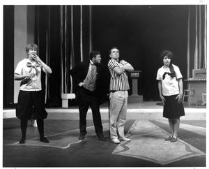 Primary view of object titled '[Four Members of the Cast of The Music Man, 1963]'.