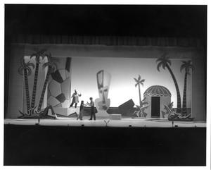 Primary view of object titled '[Liat and Lt. Joe Cable Dance as Bloody Mary Looks on in South Pacific Musical #2]'.