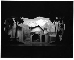 Primary view of object titled '[House and Barn Set in Seven Brides for Seven Brothers]'.