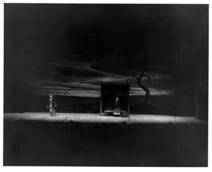 Primary view of object titled '[Railroad Station Scene in Fiddler on the Roof, 1972]'.