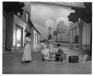 Primary view of object titled '[Four Actors in Oklahoma!]'.