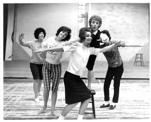 Primary view of object titled '[Five Women Rehearsing for The Music Man, 1963]'.